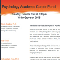 Psychology Academic Career Panel