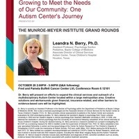 The Munroe-Meyer Institute Grand Rounds with Leandra N. Berry, Ph.D.