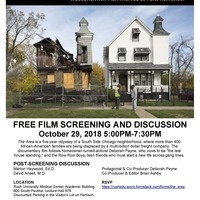 """Film screening: """"The Area"""", with discussion featuring Marlon Haywood and David Ansell"""