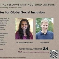 """MIT Sidney Pacific Presidential Fellows Distinguished Lecture """"Designing Technologies for Global Social Inclusion"""""""