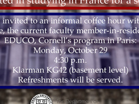 EDUCO French Study Abroad Information session