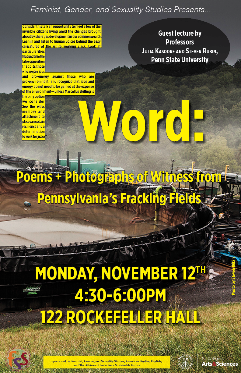 F Word: Poems + Photographs of Witness from Pennsylvania's Fracking Fields