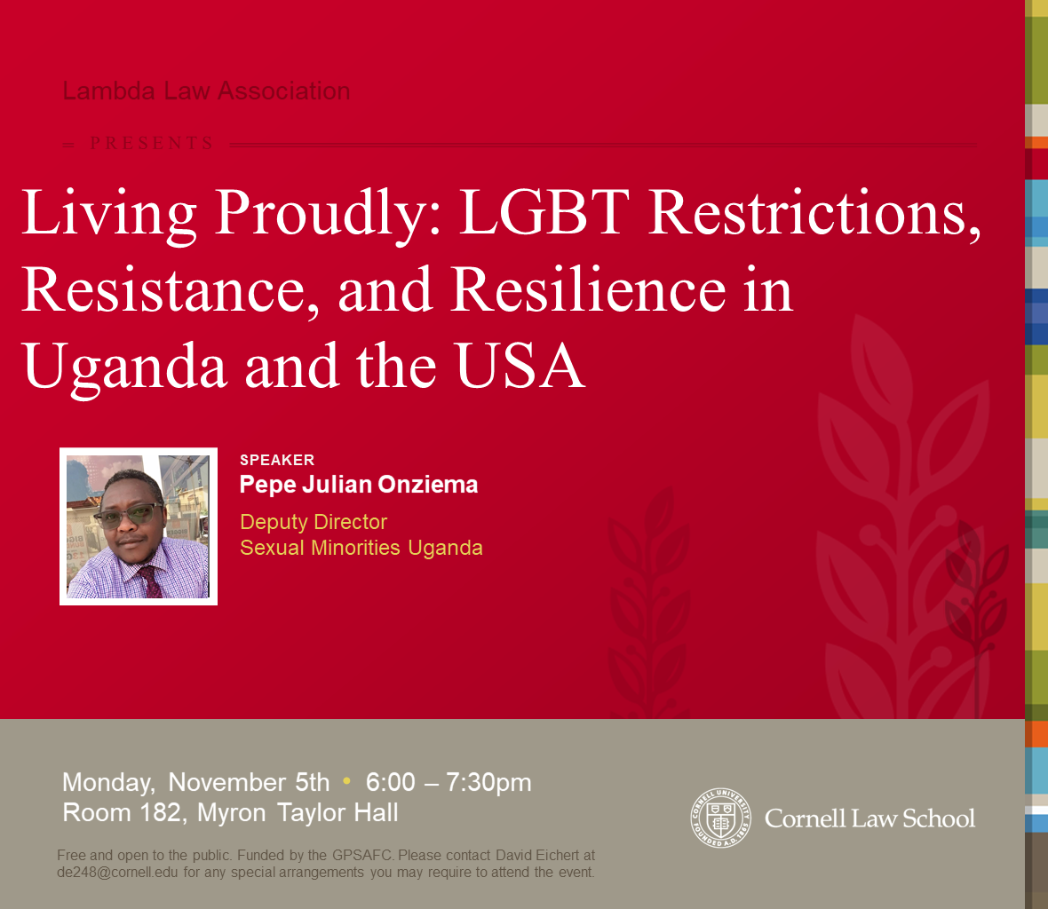 Living Proudly: LGBT Restrictions, Resistance, and Resilience in Uganda and the USA