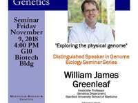 "MBG Friday Seminar with William James Greenleaf ""Exploring the physical genome"""