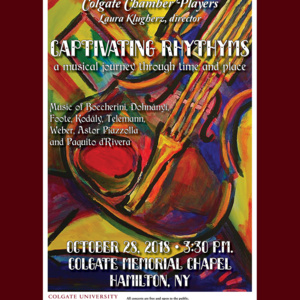 """Captivating Rhythms""   Colgate University Chamber Players, Laura Klugherz, director"
