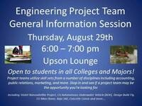 Engineering Project Team General Information Session