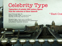 Celebrity Type: Art Reception and Boston Typewriter Orchestra Performance