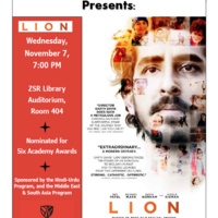 "Hindi-Urdu Film Series:  ""Lion"""