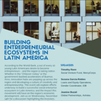Building Entrepreneurial Ecosystems in Latin America