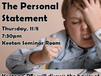 Grad Panel: The Personal Statement