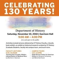 Celebrate the 130th Anniversary of the UT History Department