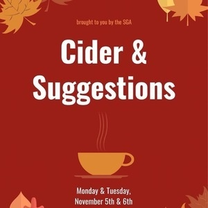 Cider and Suggestions