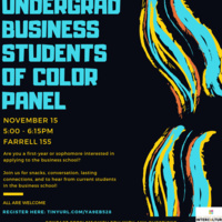 Undergraduate Business Students of Color Panel