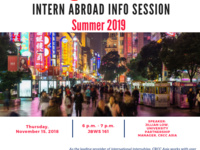 CRCC Asia Intern Abroad Information Session