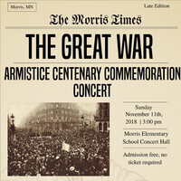 WW I Armistice Centenary Commemoration Concert - Concert Choir & Symphonic Winds