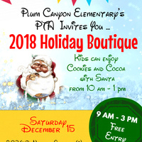 Plum Canyon Elementary's 2018 Holiday Boutique