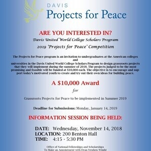 Davis Projects for Peace Information Session