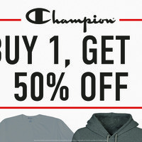 Buy One Get One 50% Off All Champion Apparel