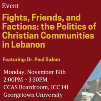 Fights, Friends, and Factions: the Politics of Christian Communities in Lebanon
