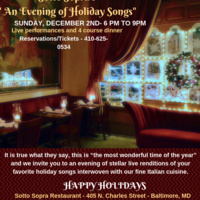 An Evening of Holiday Songs at Sotto Sopra Restaurant