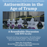 Antisemitism in the Age of Trump - Roundtable Discussion