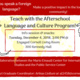 Afterschool Language and Culture Program Flyer