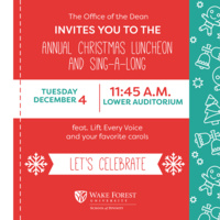 School of Divinity Annual Christmas Luncheon and Sing-a-Long