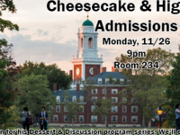 Dessert and Discussion: Cheesecake & Higher Ed Admissions