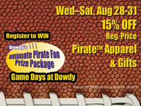 Dowdy Pre-Game Sale & Game Day Specials