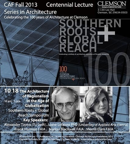 CAF Centennial Lecture in Architecture