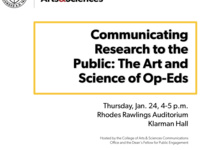 Communicating Research to the Public: The Art and Science of Op-Eds