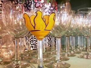Valentines Day Wine Glass Painting Class
