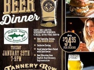Beer Pairing Dinner with Dogfish Head