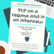 PLP on a Resume and in an Interview: A PLP Passport Destination