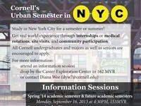 Cornell Urban Semester/Summer Program in New York City: Information Sessions