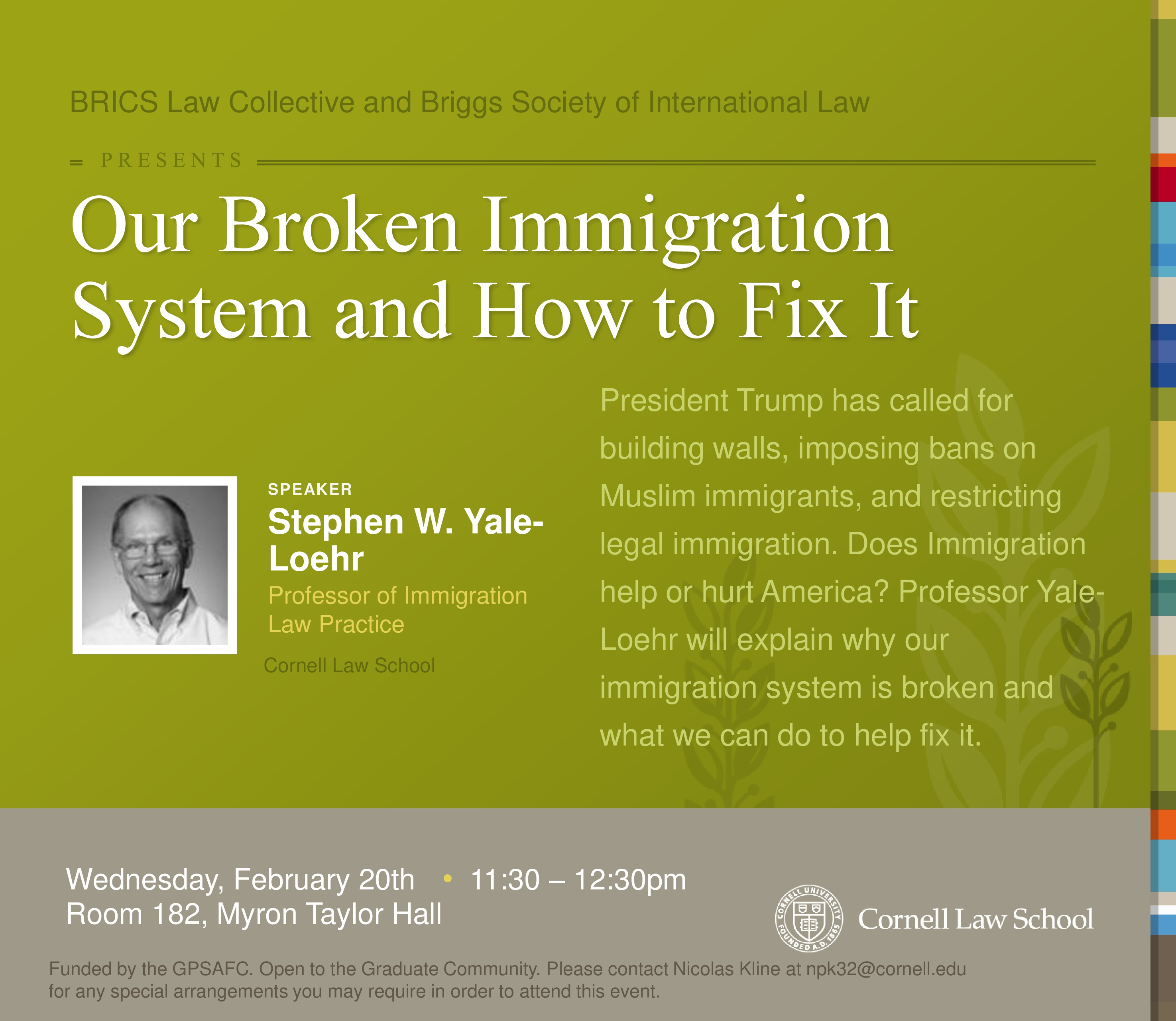 """The BRICS Law Collective and the BRIGGS Society of International Law present - """"Our Broken Immigration System and How to Fix It"""""""