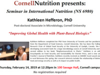 Improving Global Health with Plant-Based Biologies