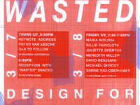 2019 Preston H. Thomas Memorial Symposium—Wasted: Design for the end of Material as we Know it.
