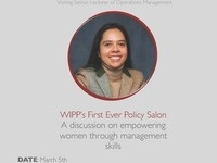 WIPP's First Ever Policy Salon with Professor Natalia Santamaría