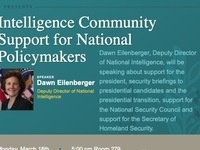 National Security Law and Policy Society Presents: Intelligence Community Support for National Policymakers