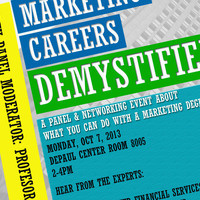 Marketing Careers Demystified : Panel & Networking