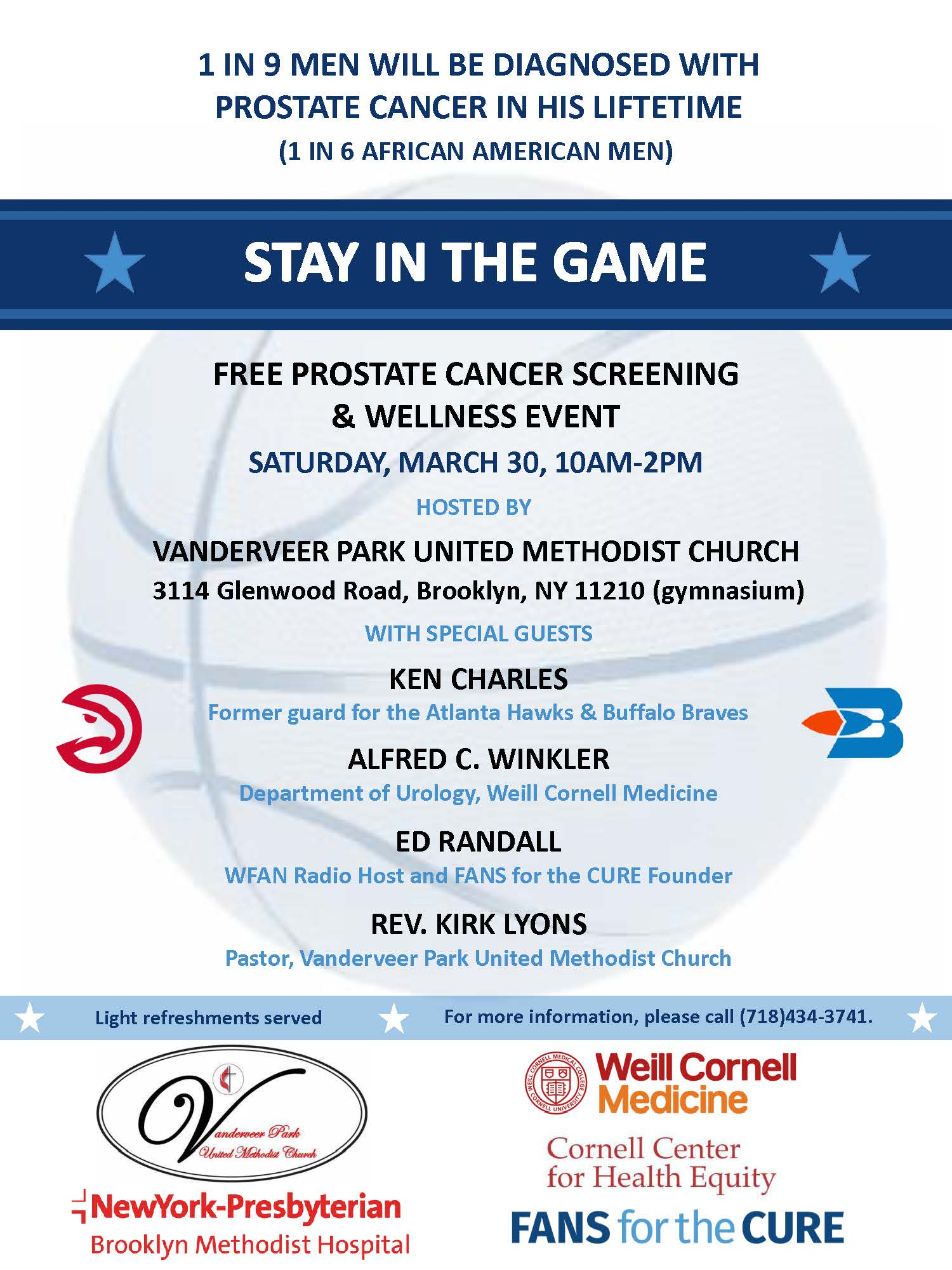 Stay in the Game- FREE Prostate Cancer Screening & Wellness