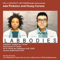 Lecture: Ada Pinkston and Hoesy Corona