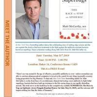 LCCHM Presents - Book Event: SUPERBUGS By Dr. McCarthy