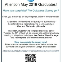 May Graduates: Don't Forget to Complete The Outcomes Survey!