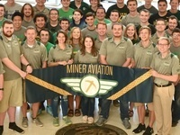 Miner Aviation flys in the AIAA Design, Build, Fly Competition
