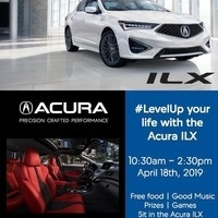 Come to the QUAD to experience the brand new 2019 ACURA  ILX --- FOOD, MUSIC, PRIZES!