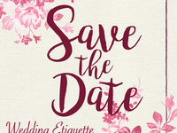 Save the Date Wedding Etiquette Dinner