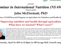 Improving nutrition and health through agriculture:  What have we learned? What's next?