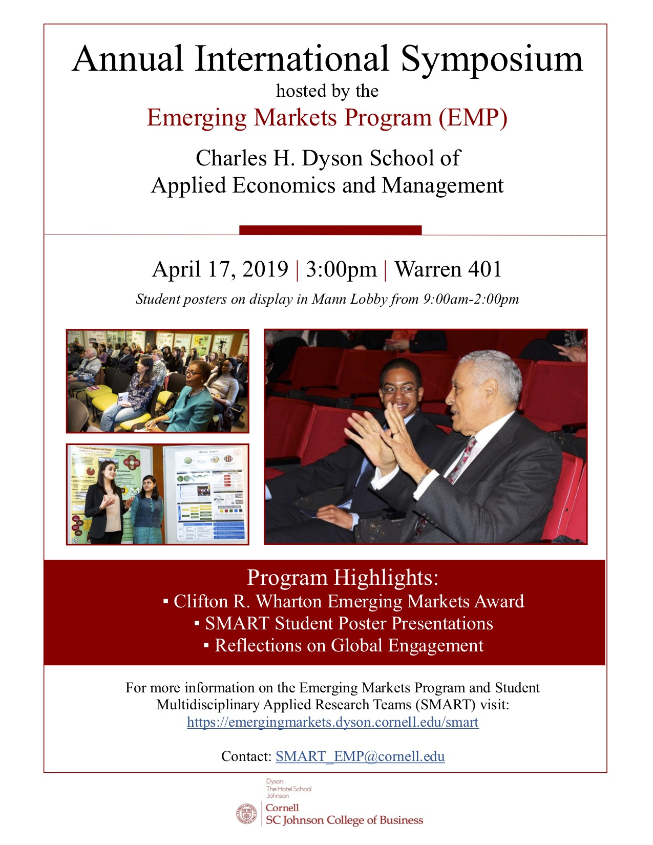 Annual International Symposium hosted by the Emerging Markets Program (EMP)